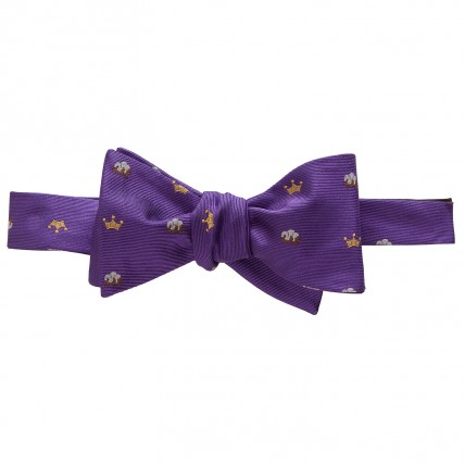 Woven King Cotton Bow - Purple